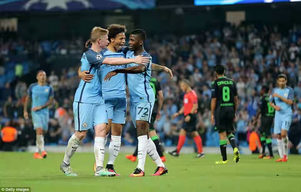 Hot Shot Iheanacho Celebrates Man City's Champions League Win