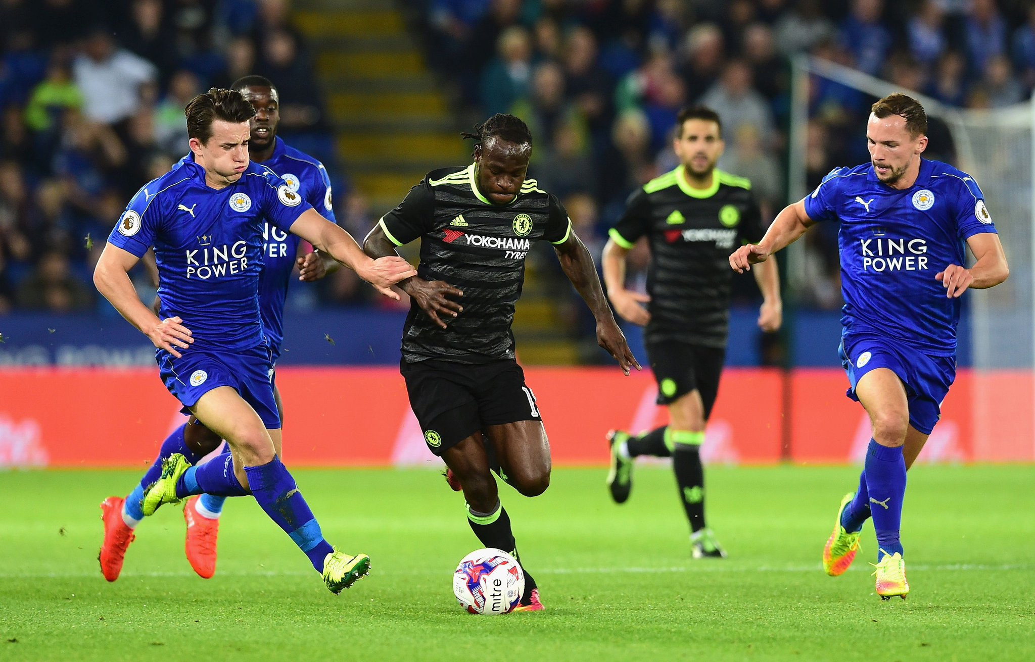 Moses, Musa Star; Mikel Out As Chelsea Fight Back To Beat Leicester