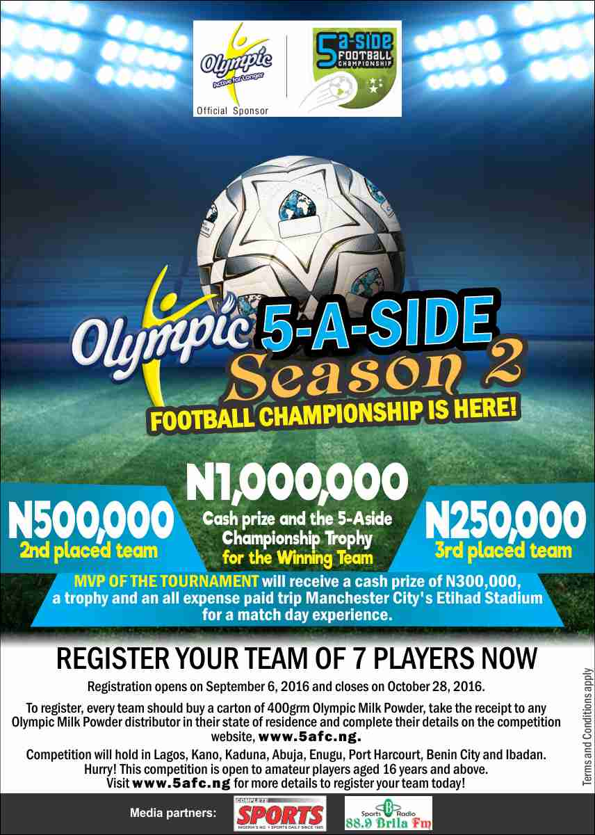 Registration Starts For Olympic Milk 5-a-side Tourney
