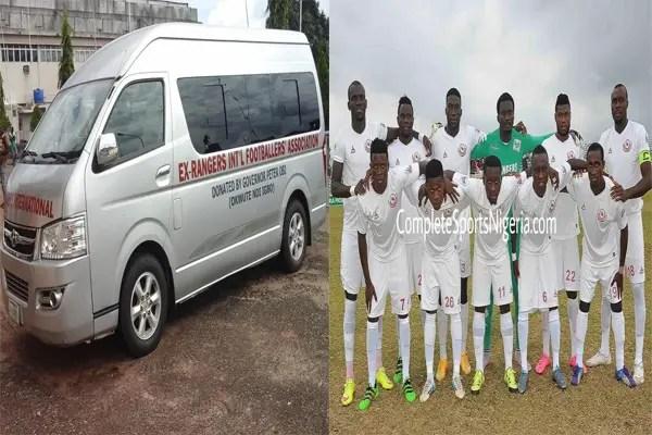 Authentic NPFL Trophy Lands In Enugu, Replica In Uyo; Chukwu, Egbuonu Lead Ex-Rangers Stars Out