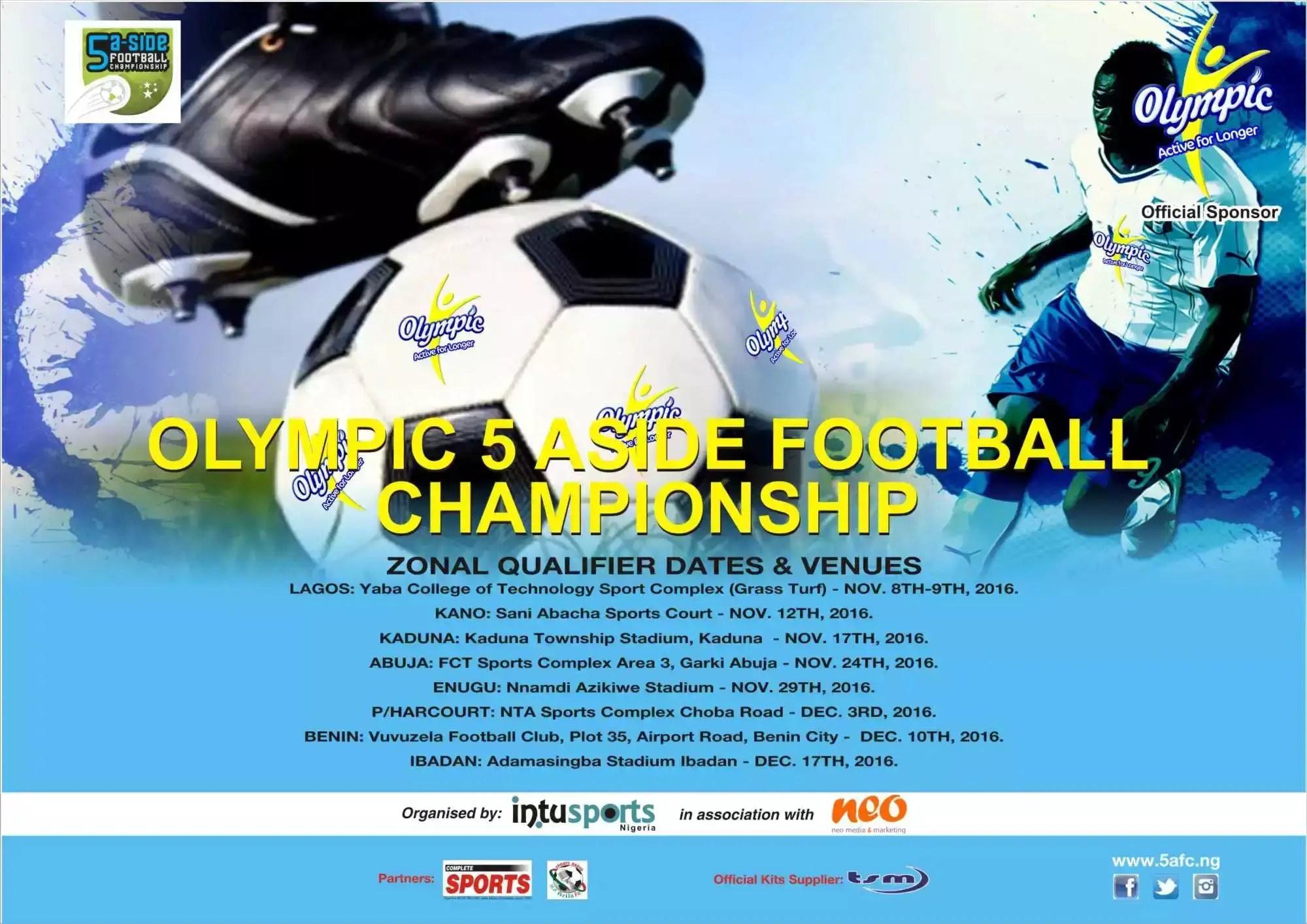 2016Olympic 5-A-Side Football Championship Kicks Off