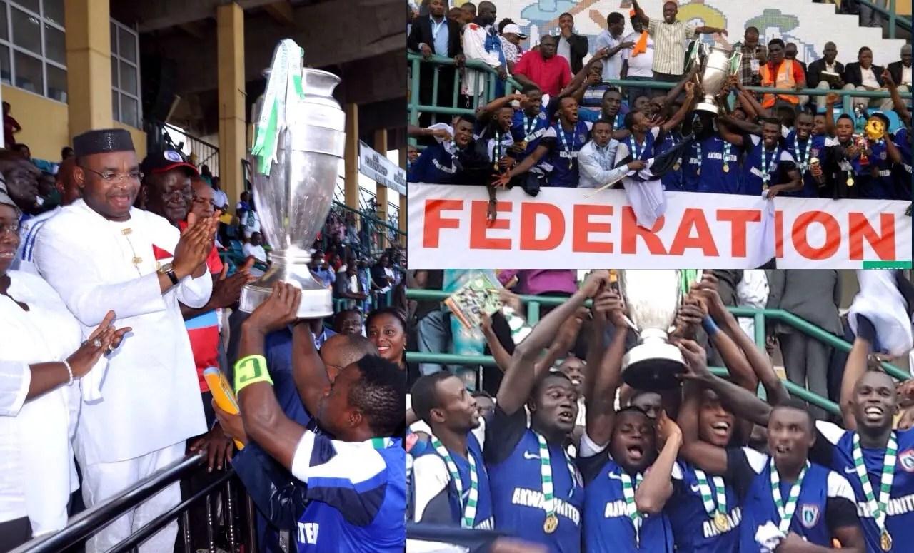 2015 Fed. Cup: Akwa United Players Receive 3-Bedroom House Reward Each