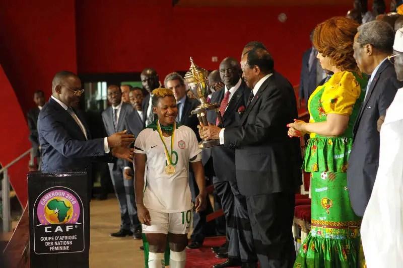 Ndidi Celebrates Super Falcons' AWCON Title Success