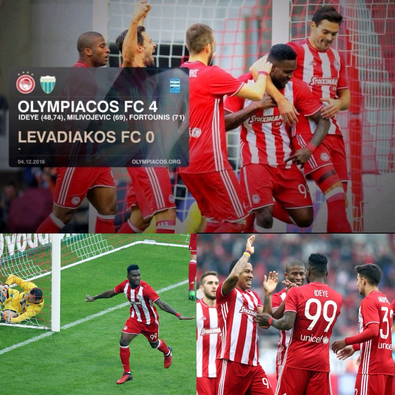 Ideye Strikes Brace In Olympiakos Win, Omeruo Loses With Alanyaspor