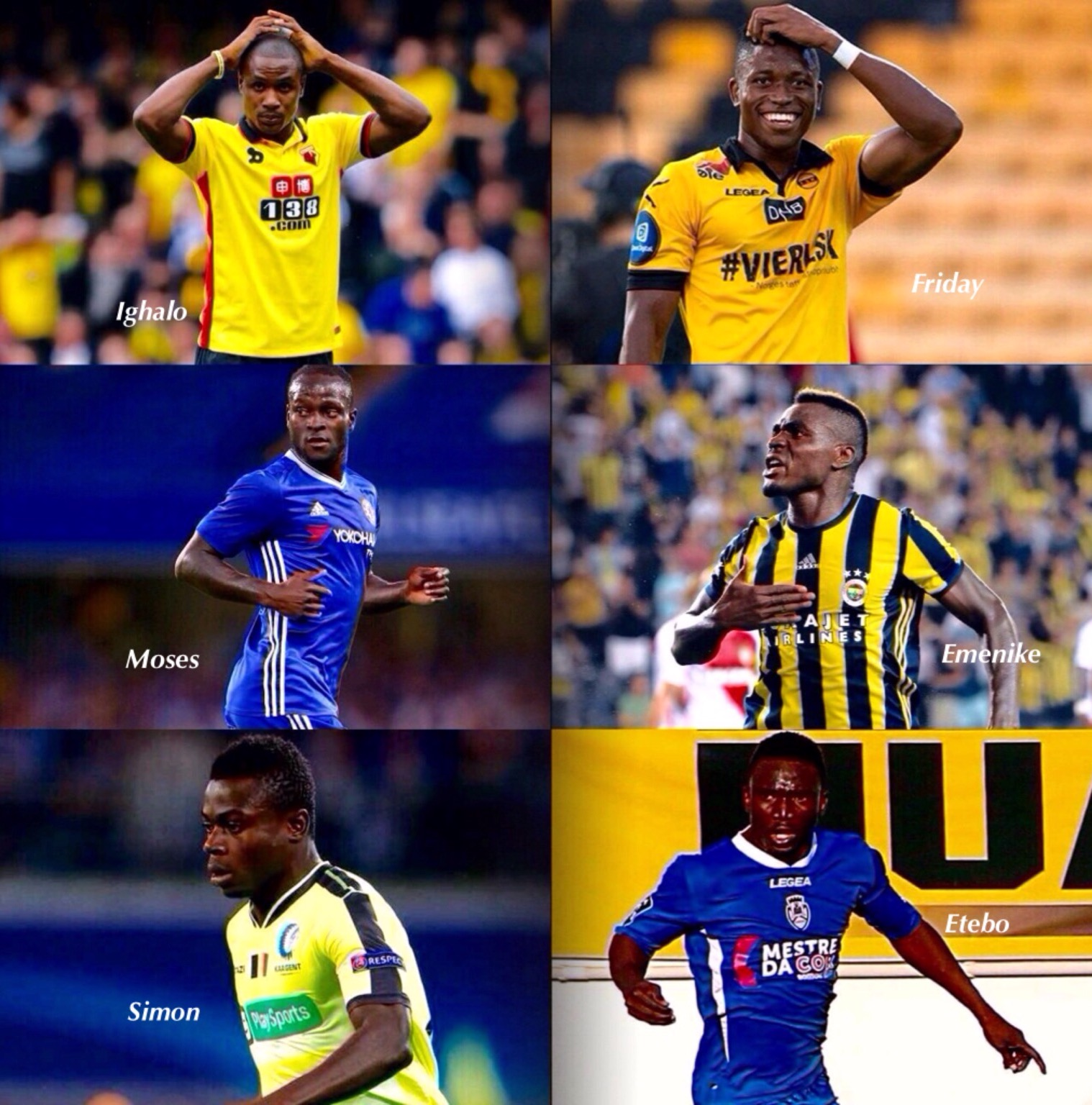 6 Overseas-Based Nigerian Stars With Lengthy Goal Droughts