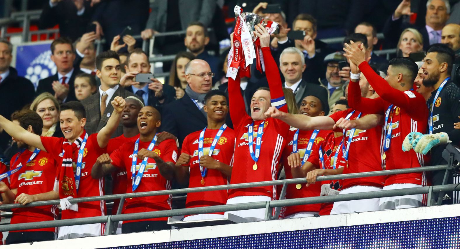 Zlatan Bags Brace As Man United Win Dramatic EFL Cup Final