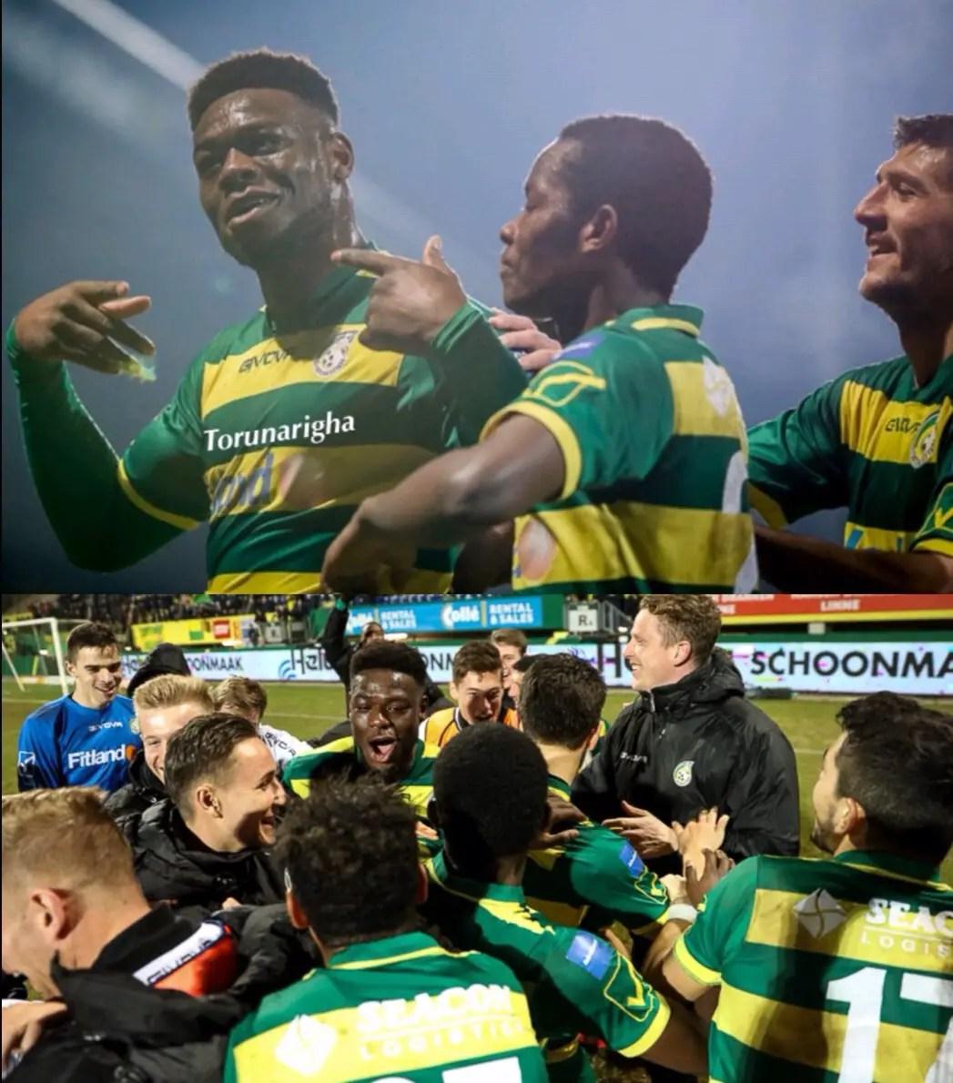 Nigerian Striker, Torunarigha Scores As Oliseh's Fortuna Maul Jong FC Utrecht