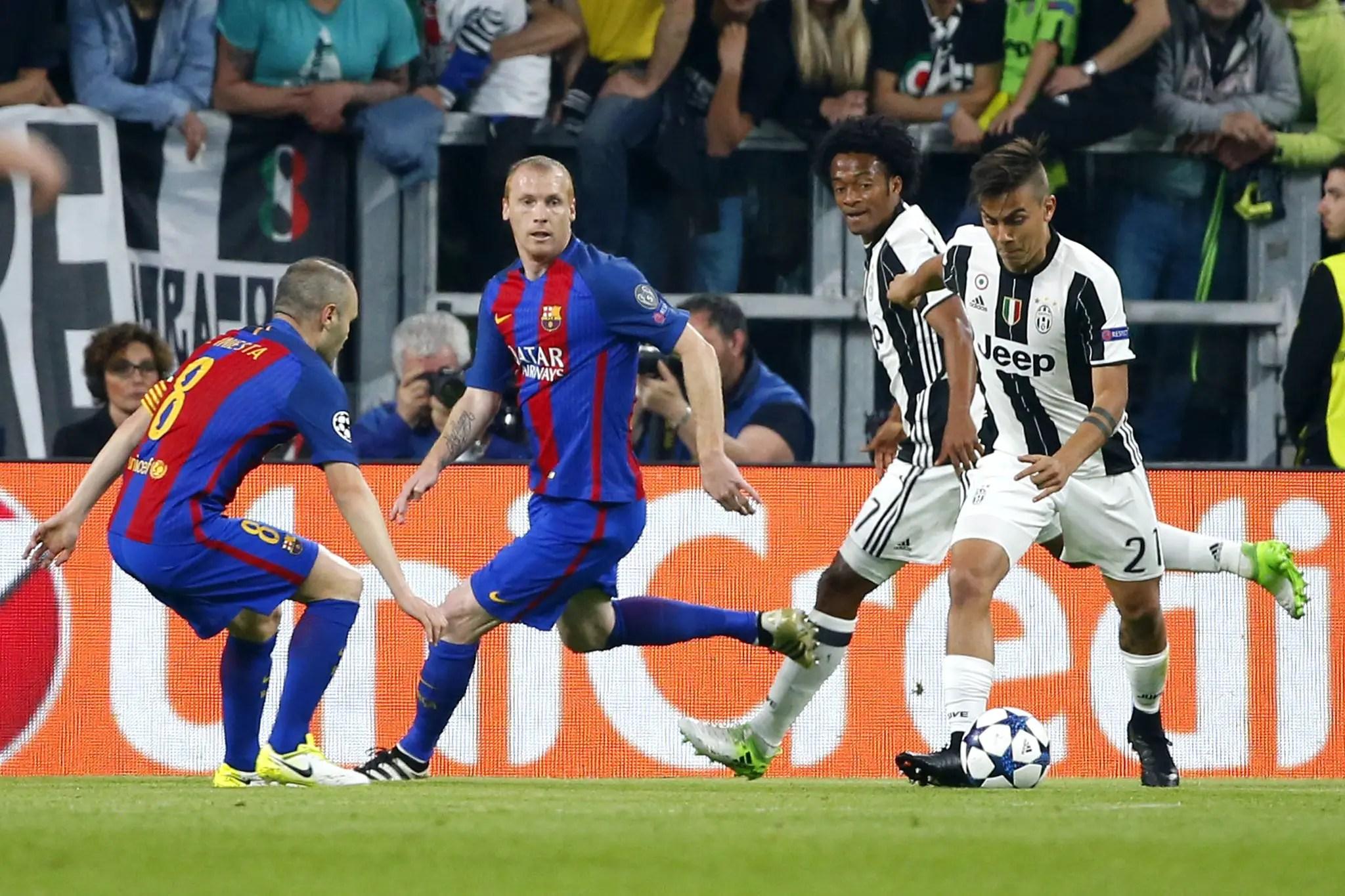 UCL: Dybala Nets Brace As Juventus Outclass Poor Barca