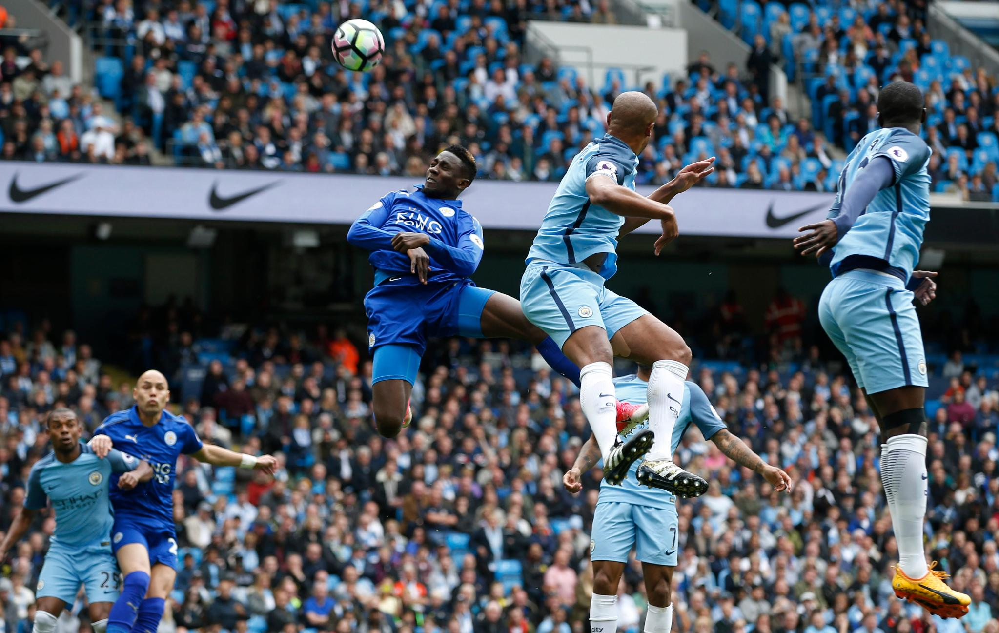 Ndidi Shines, Musa Benched, Iheanacho Out As Man City Edge Leicester