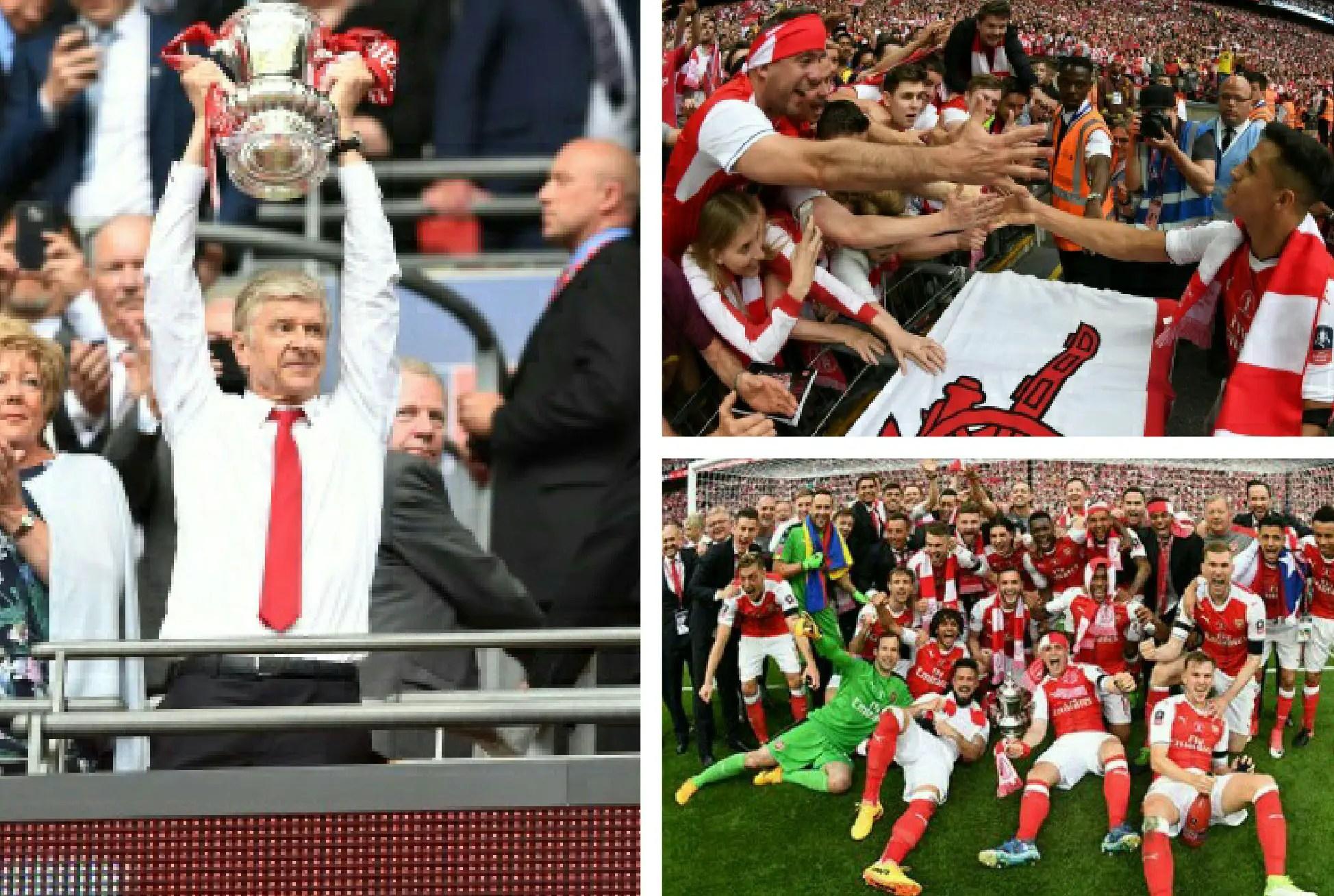 Oliseh, Ikpeba Celebrate Arsenal's FA Cup Win, Urge Wenger Stay