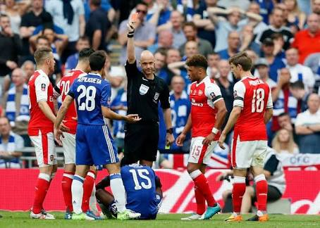 Oxlade Surprised Moses Was Sent Off In Cup Final
