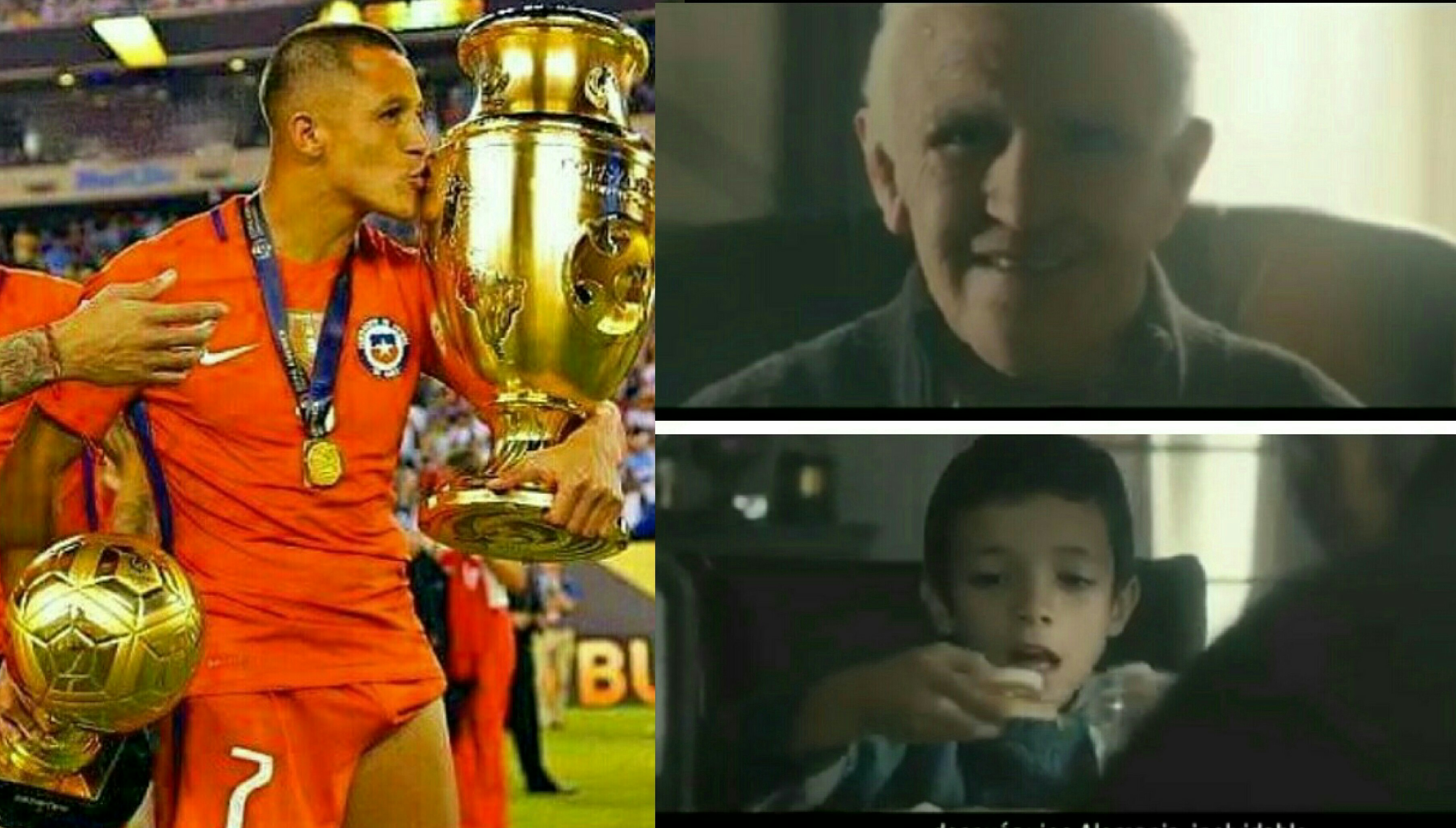 Sanchez Stars As Old Man In Golden Generation Promo Ahead Chile's FIFA Confederations Cup Campaign