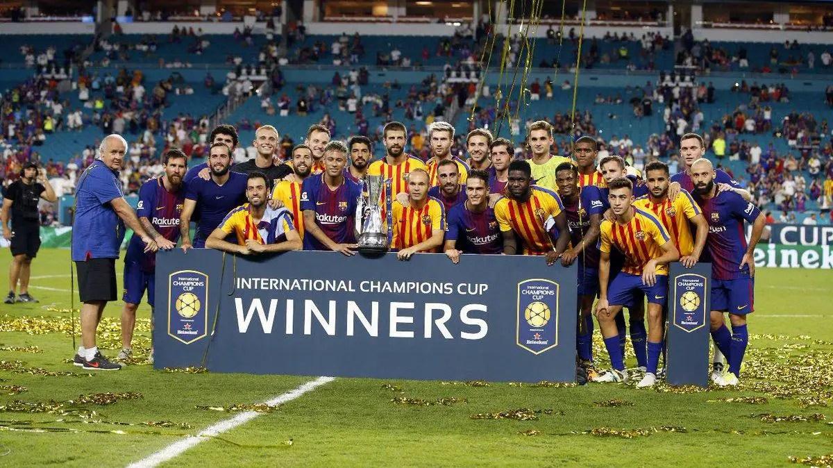 Barca Win ICC, Edge Real Madrid In El Clasico Outside Spain; Man City Thrash Spurs