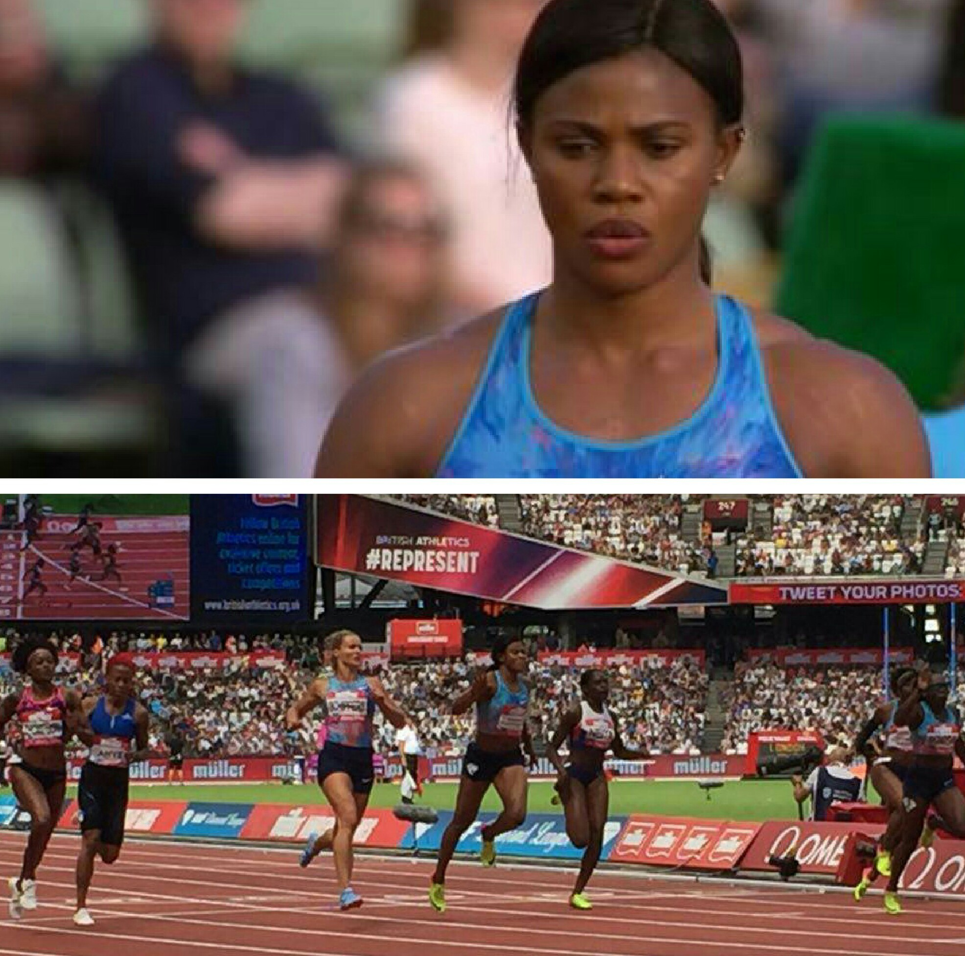 IAAF Diamond League: Okagbare Hits Form Again, Finishes 3rd With 17th Sub-11 Seconds In 100m Final