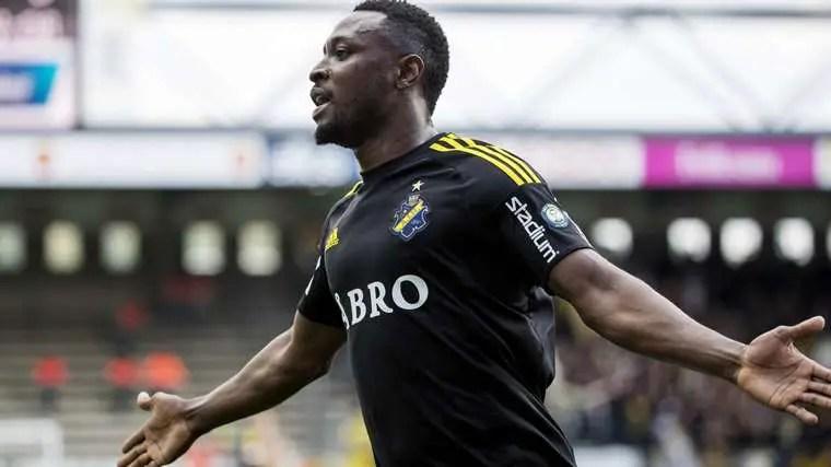 Obasi Rejoins Swedish Club AIK From China