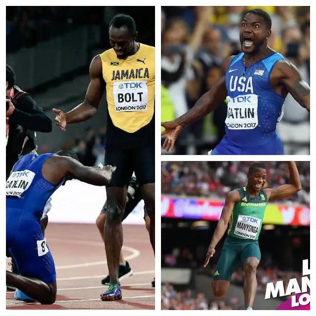 IAAF Worlds: Gatlin Spoils Bolt's 100m Party, South Africans Claim Double