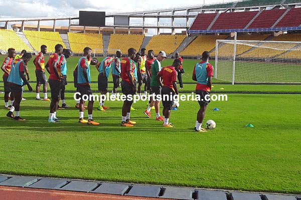 PICTURES: Lions' Final Training Ahead Of Super Eagles Clash
