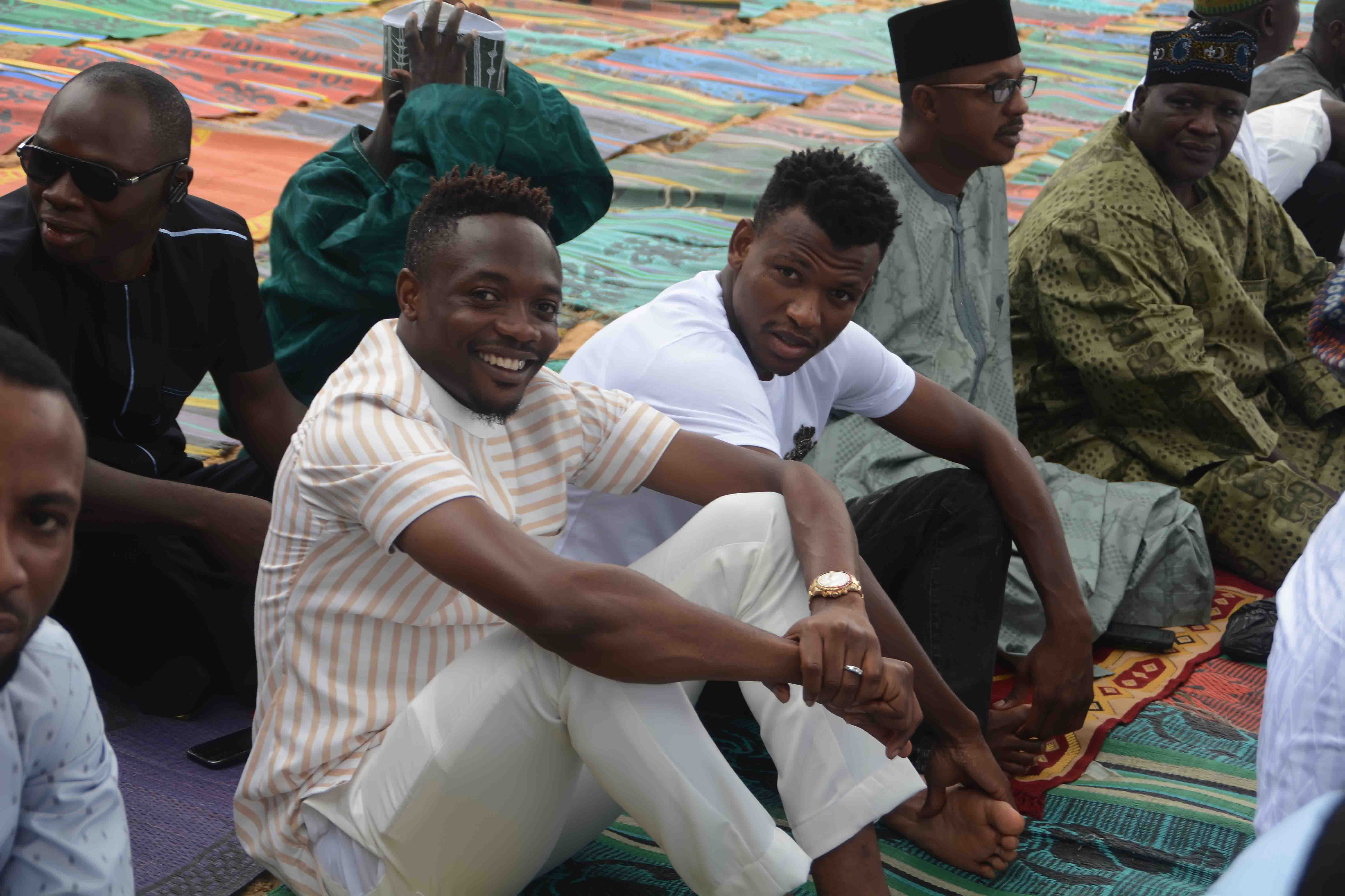 [Pictures] Super Eagles Ahmed Musa Spotted, Mobbed By Fans At Eid Prayers