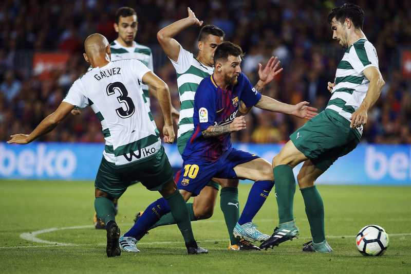 Messi Hits Four Goals Past Eibar As Barca Stay Top