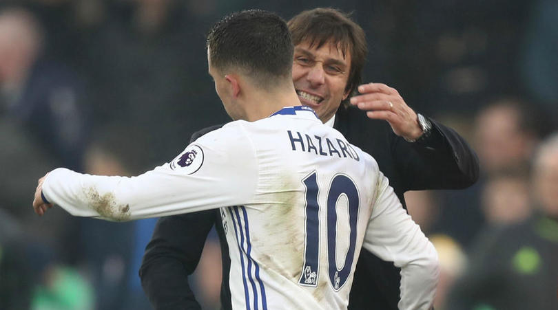 Chelsea Star Hazard Shades Mourinho, Claims He Improved After Just One Week Under Conte