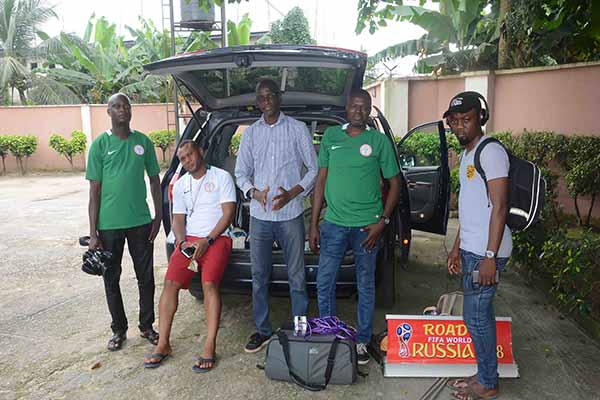 Complete Sports Road To Russia Crew Land In Uyo For Super Eagles