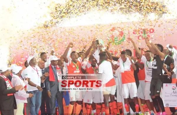 Akwa United Edge Tornadoes To Win Aiteo Cup, Claim CAFCC Spot