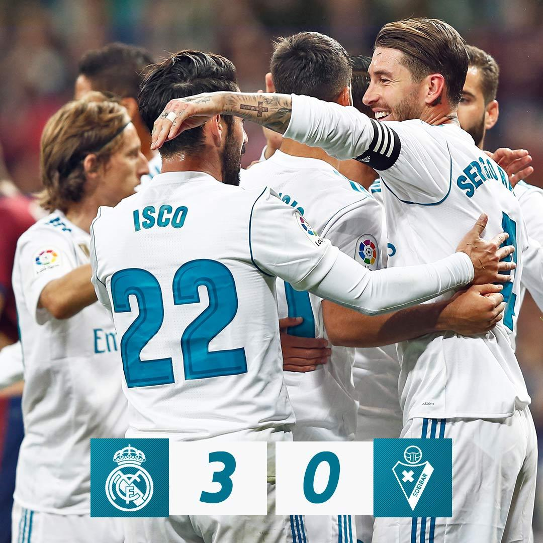 LaLiga: Real Madrid Edge Eibar, Inch Closer To Barca, Valencia