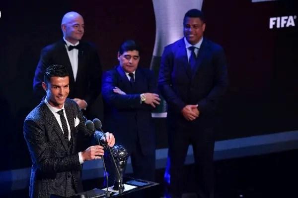 Ronaldo Retains FIFA Best Player Award As Buffon, Zidane, Giroud Win