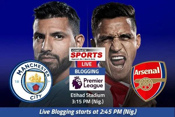 LIVE BLOGGING: Manchester City vs Arsenal