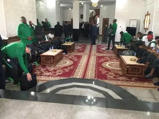 ALGERIA VS NIGERIA: Super Eagles Land In Constantine To Warm Welcome