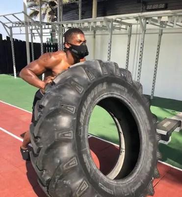 Joshua Trains In World's Highest Boxing Ring In Dubai