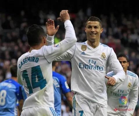Ronaldo, Benzema Score As Real Madrid Squeeze Past Malaga