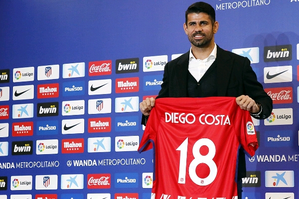 """Atletico Officially Unveil """"Thankful"""" Costa, Give Him No.18"""