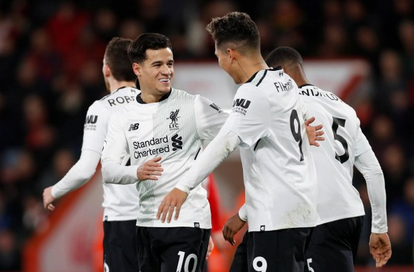 Salah, Coutinho Score As Liverpool Bounce Back With Big Win Vs Bournemouth