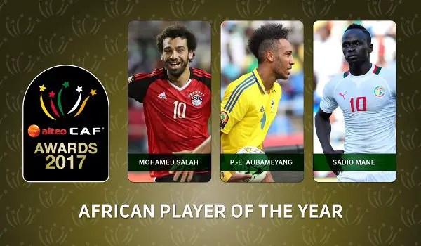 CAF Awards: Moses Dropped As Salah, Aubameyang, Mane Make Final Shortlist; Oshoala, Rohr, Eagles Nominated