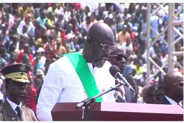 Ex-Football Superstar Weah Sworn In As Liberia's New President