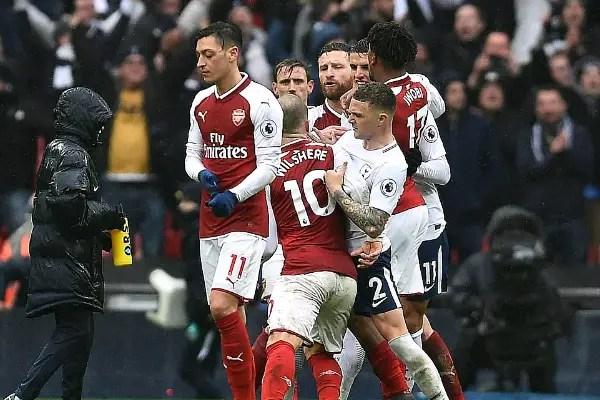 Iwobi Rated Average, Aubameyang, Mkhitaryan Poor In Arsenal Defeat To Spurs