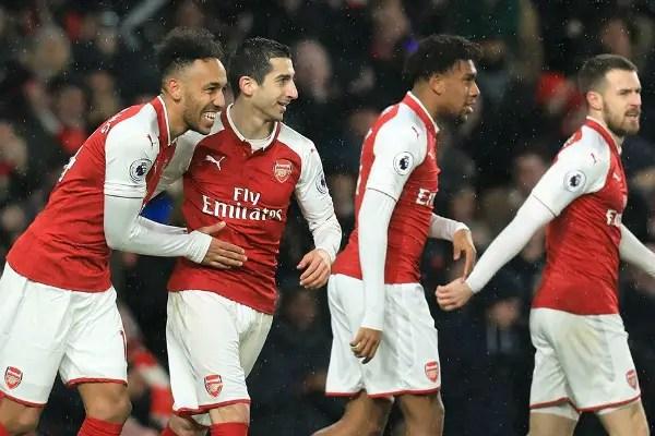 Iwobi Shines, Aubameyang Scores, Ramsey Hits Hat-trick In Arsenal Rout Of Everton