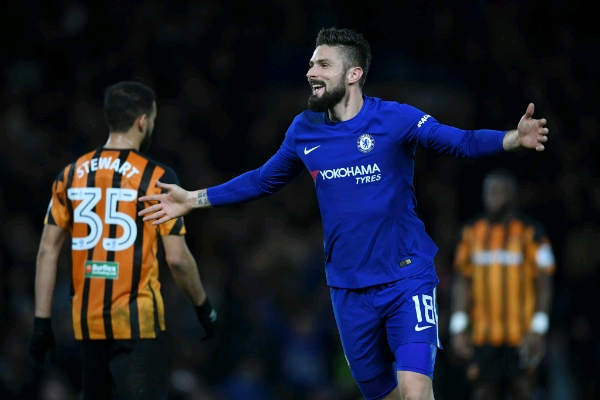 Moses Rested, Giroud Scores First Chelsea Goal As Blues Cruise Into FA Cup Q/Finals