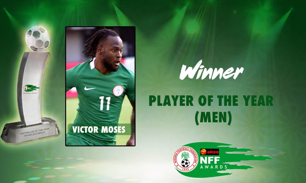 Moses: NFF Award An Honour For Me, My Family