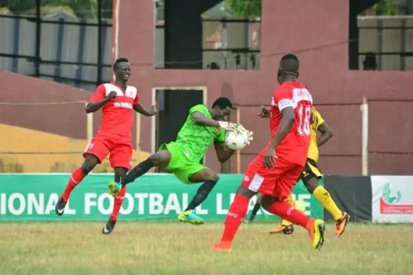 NPFL: Okpotu Sent Off As Lobi Stay Top; Sunshine, Abia Warriors Win