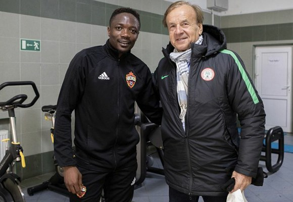 Musa Hails 'Amazing, Inspirational Great Teacher' Rohr After Visit At CSKA Moscow