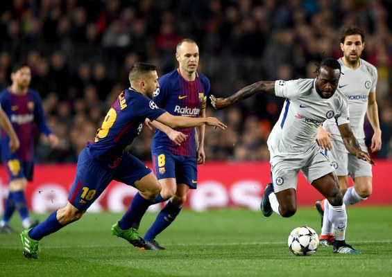 Moses Rated Average, Courtois Poorest In Chelsea Defeat To Barcelona