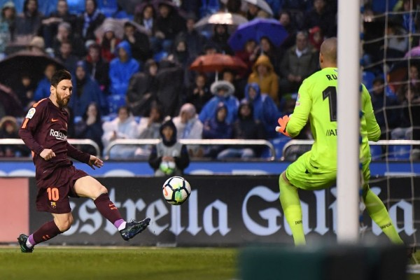 Messi Hits Hat-trick As Barca Clinch 25th LaLiga Title, Uzoho's Deportivo Relegated