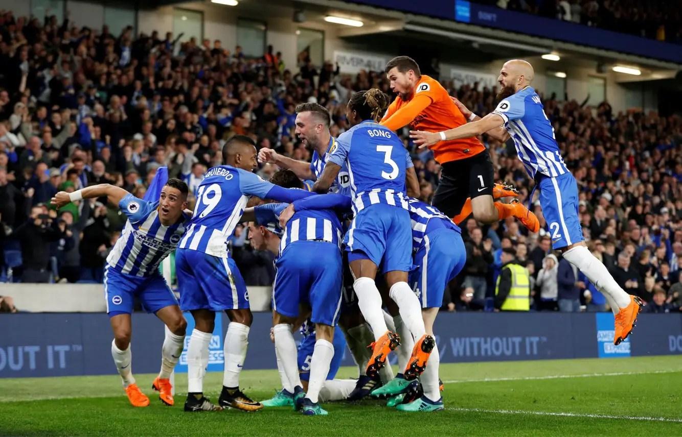 Brighton Stun Man United, Secure Premier League Safety