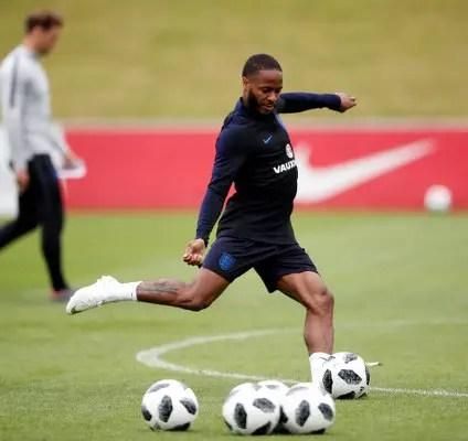 English FA Back Raheem Sterling In Gun Tattoo Row