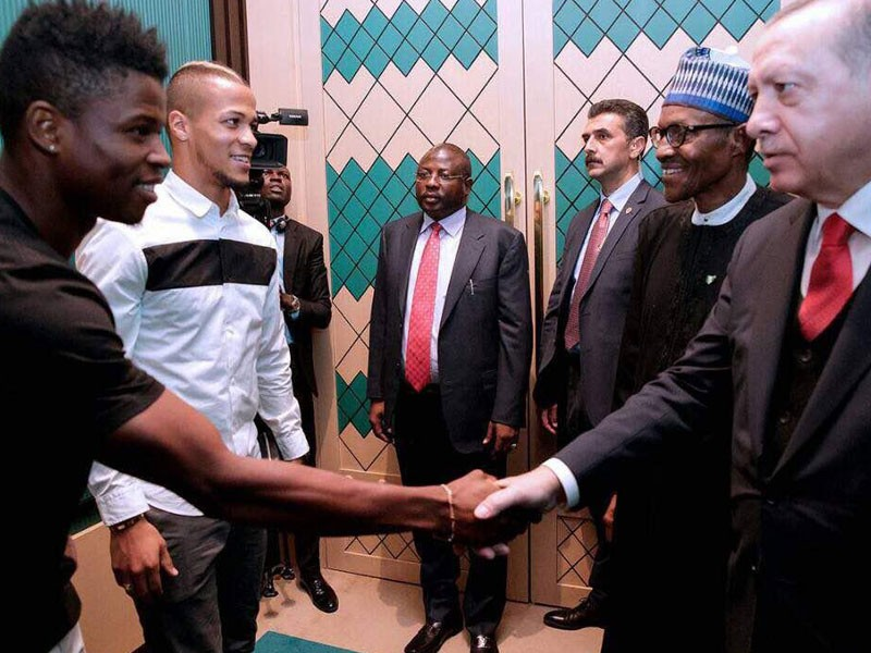 "Mikel Agu ""Honoured"" To Meet President Buhari Again"