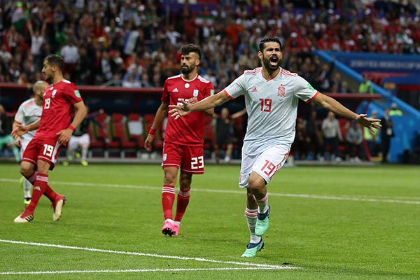 Costa Voted MOTM In Spain Win Over Iran
