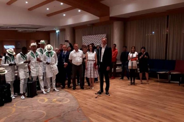 Mayor Of Essentuki Welcomes Super Eagles To Russia