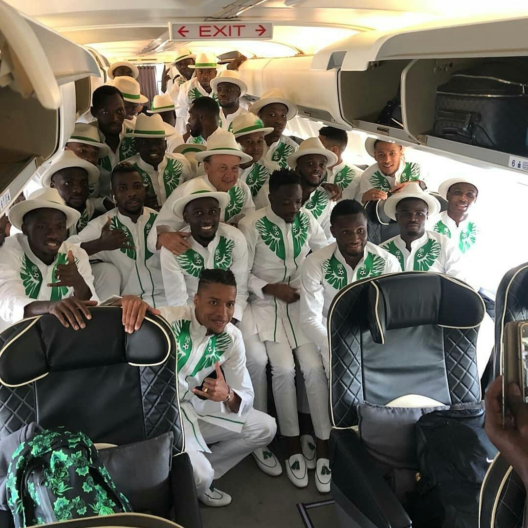 Super Eagles' Unique World Cup Travel Outfit Causes Stir On Social Media